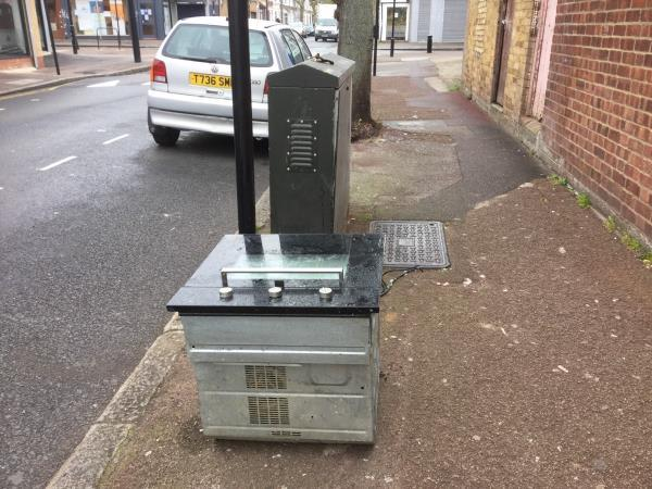 Oven large flytipped opposite 49 byron ave, close to high st north end-49 Byron Avenue, London, E12 6NQ