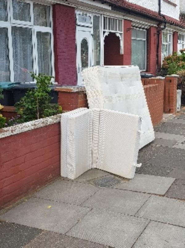 dumped rubbish fly tipping outside 59 willingdon rd-55 Willingdon Road, London, N22 6SE