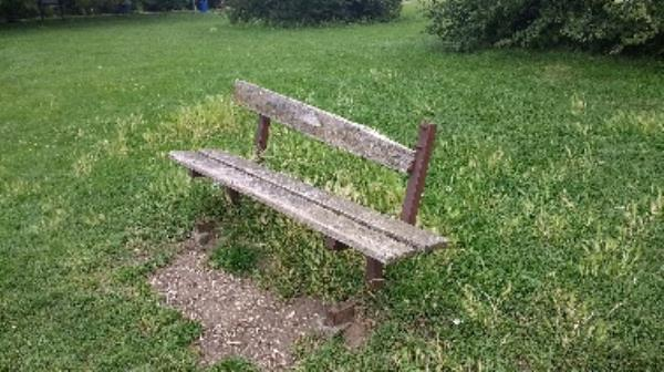 Damaged bench. King's Meadow-Unit 5 Napier Road, Reading, RG1 8FR