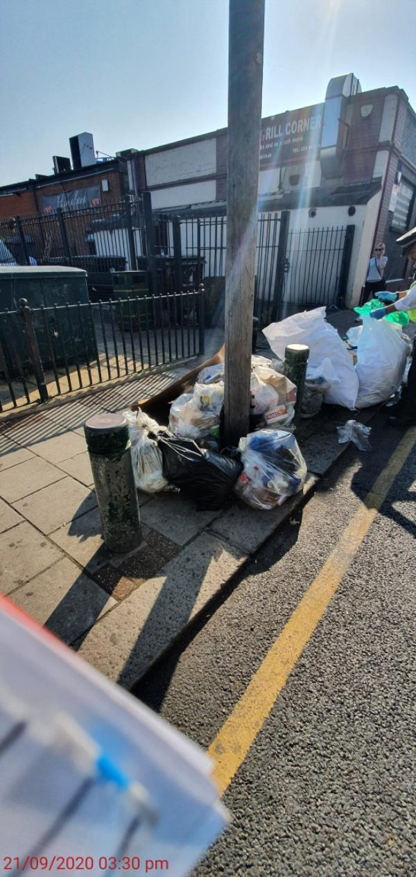 Fly-tip o/s Shaftsbury Road car park. Evidence of addresses found. FPN issued by Law Enforcement. Ready for removal.-1-2 Green Street, Upton Park, E7 8LH