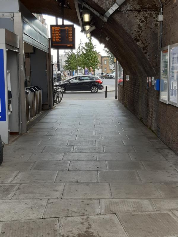 car parked on footpath and obstructing droped kerb-118 Woodgrange Rd, London E7 0EW, UK