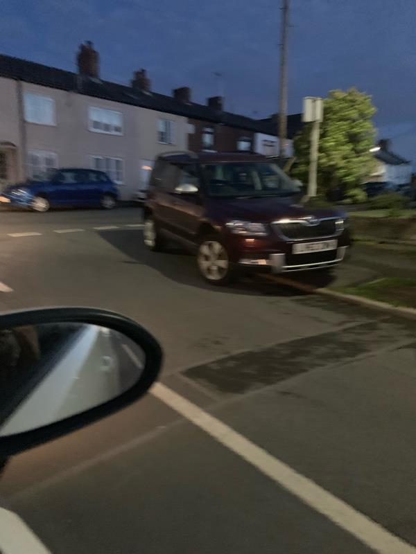 These cars and vans are parking on the corner and I can not see to pull out .the owner of the van gave me a mouthful when I said I could not see to pull out there will be an accident if something is not done .people have to walk on the road to pass as they are on the footpath  -50 Ship St, Frodsham WA6 7NZ, UK