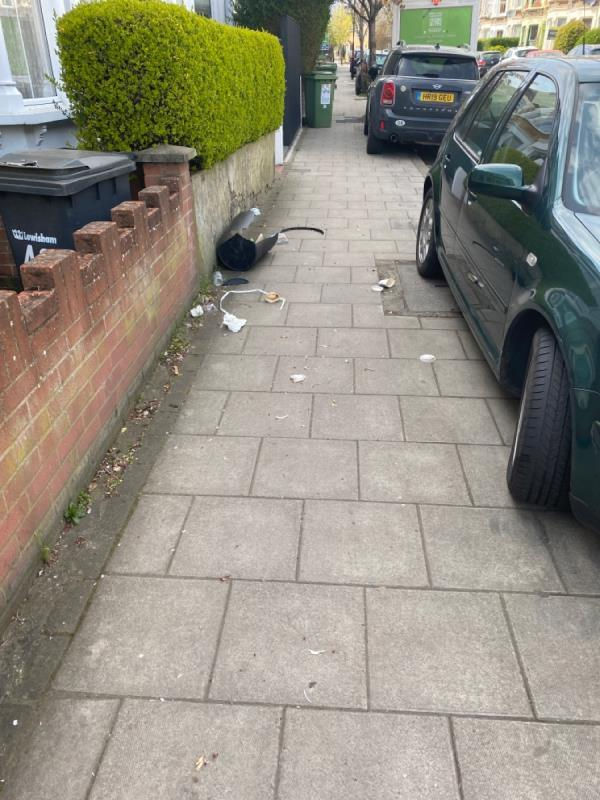 Littering and tipping -44 Saint Asaph Road, Brockley, SE4 2EB