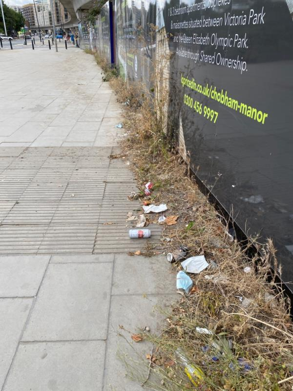 The area around west silvertown station is as per usual covered in litter all around the pavements on and sand had built up around the pelican crossing across north woolwich road.  This is an ongoing issue and the street cleaner who is responsible for the area needs to up his game -7 West Mersea Close, Canning Town, E16 1UD