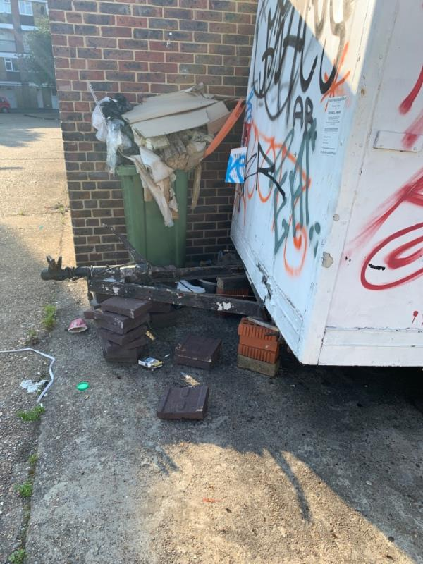 Lots of littler and flytipping in this area. behind chargeable lane (parking lott)  image 2-50 Chargeable Lane, Plaistow, E13 8DL