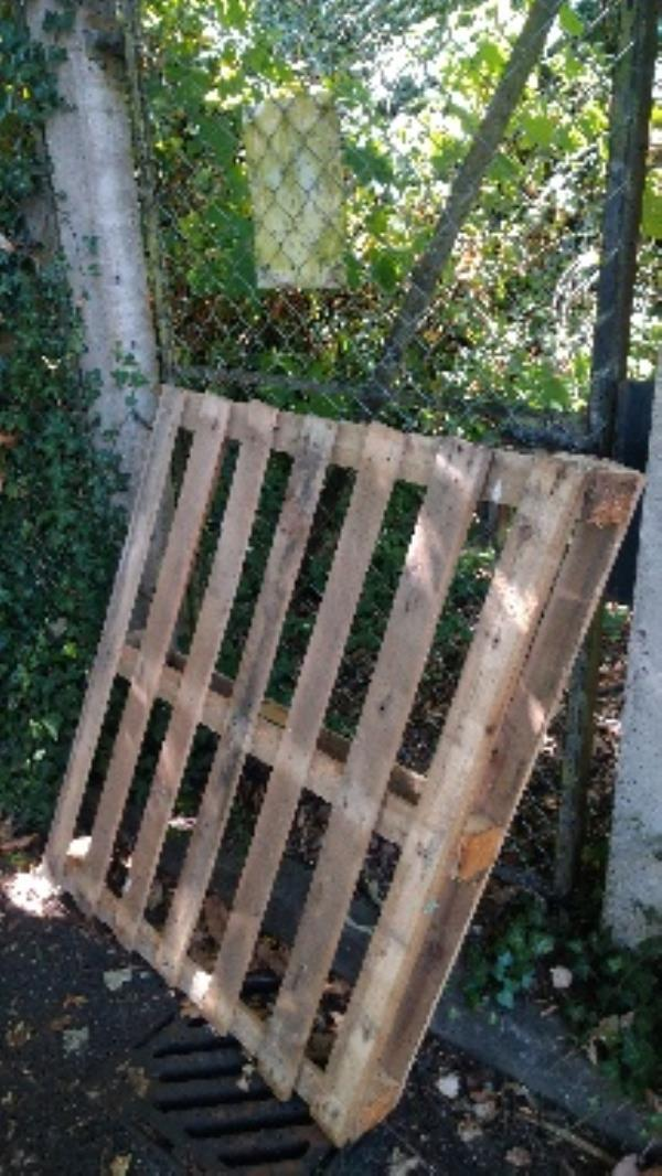 Flytipped pallet no evidence taken -95 Armour Hill, Reading, RG31 6JH