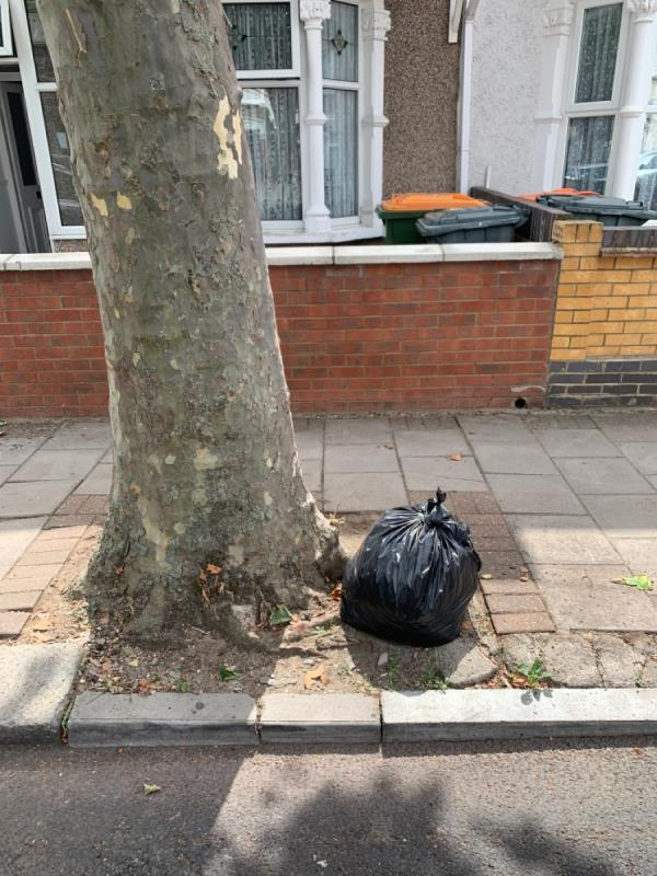 Rubbish bag -56 Sherrard Road, Upton Park, E7 8DW