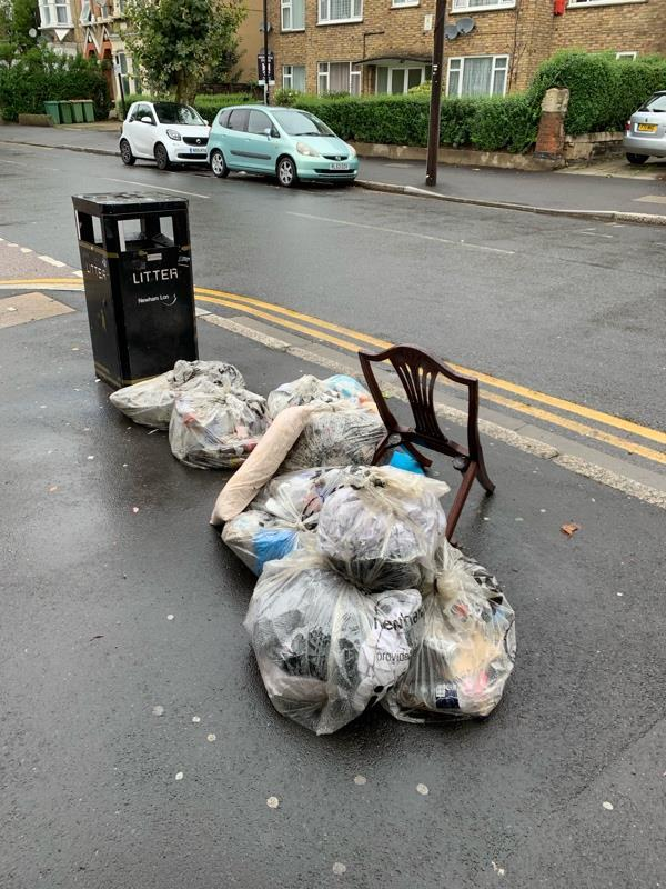 Fly tipping-47 Sprowston Road, London, E7 9AD