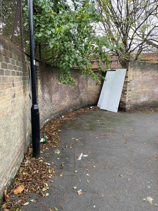 Cupboards and broken glass as well as glass beer bottles -5 Forty Acre Lane, Canning Town, E16 1QL