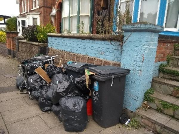 flytippin, trolley and other rubbish. rental property-191 Hinckley Rd, Leicester LE3 0TF, UK