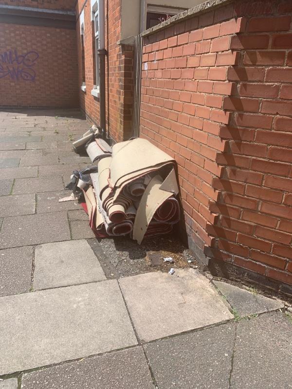 Dumped carpets-84 Norman Street, Leicester, LE3 0GJ