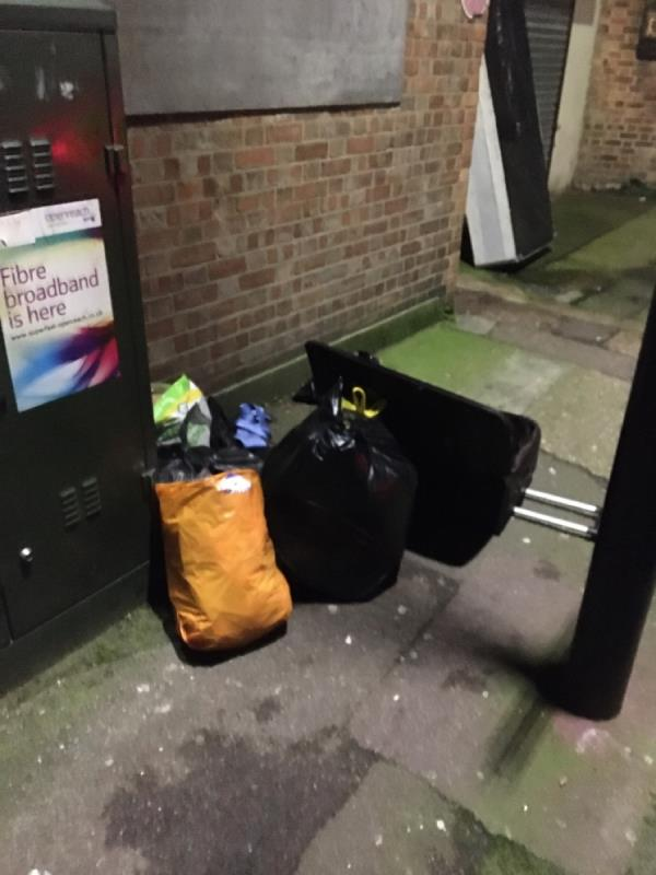 Bed, bags and other rubbish -2 Creighton Avenue, London, E6 3DS