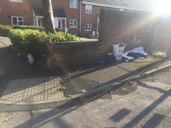 Home items thrown away, probably by local residents -20 Katesgrove Lane, Reading, RG1 2ND
