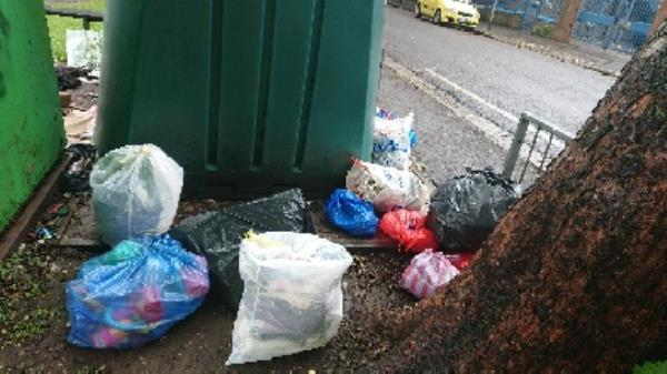 house old waste cleared  clothing bank needs to be emptied -94 Cranbury Rd, Reading RG30 2TA, UK