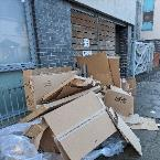 fly tipping outside of Washington House-Washington House, 144 Southwold Road, London, E5 9PB