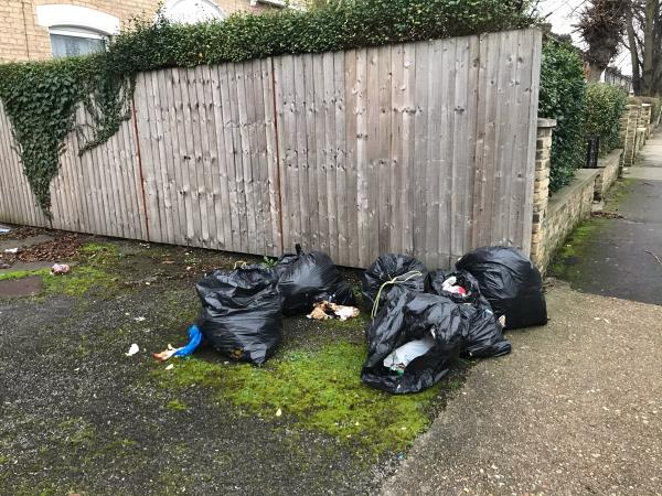 Dumped rubbish-59 Richmond Road, London, E7 0PA