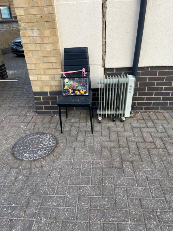 Mixed furniture dumped outside South Lodge image 1-South Lodge, 1 Audley Drive, London, E16 1TP