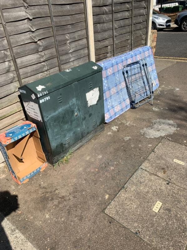 Fly tipping -13 Sprowston Road, London, E7 9AD