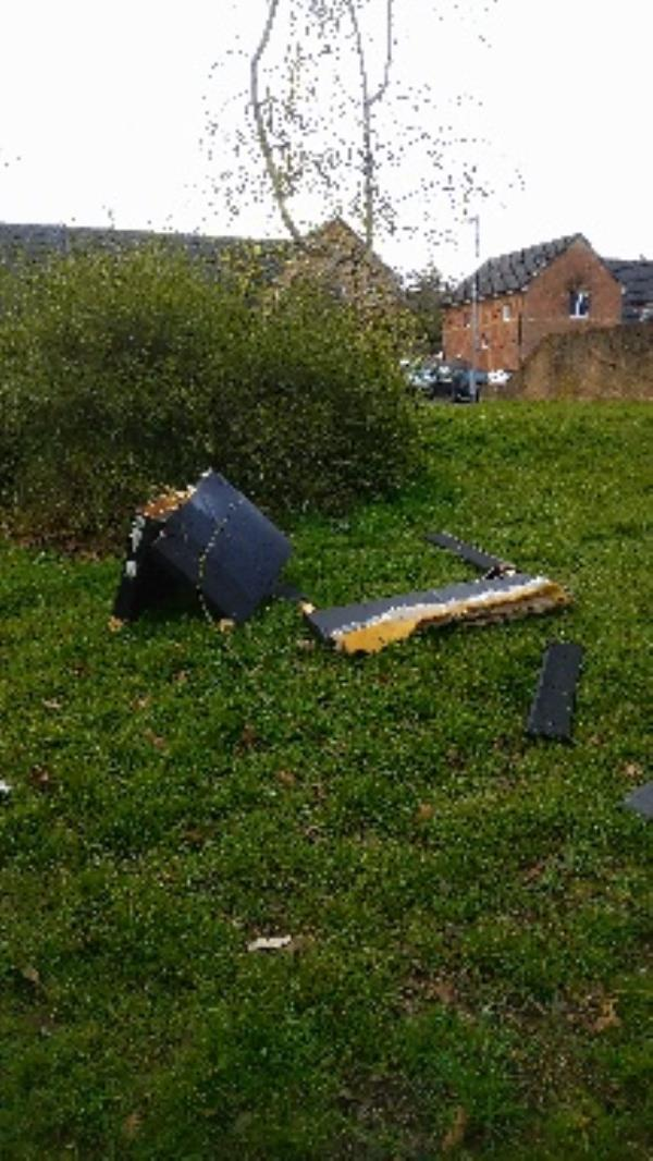 Bed broken up and flytipped  no evidence taken -171 Blagdon Road, Reading, RG2 7NF