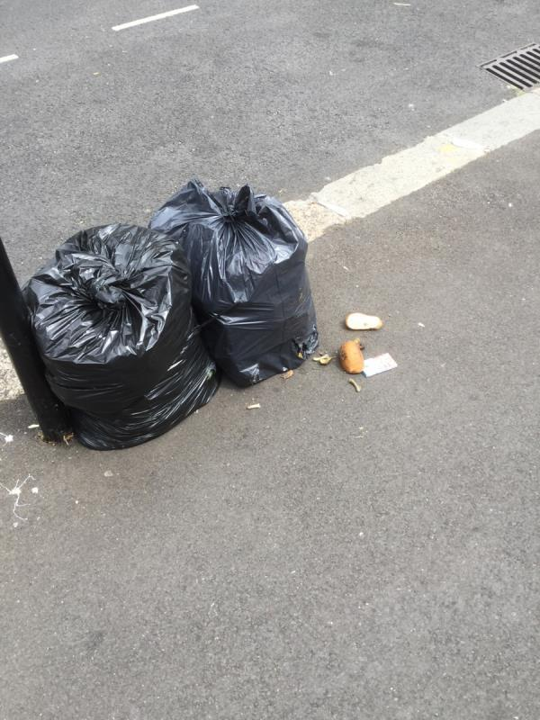 Household waste discarded outside 64 image 1-64 Churchill Road, London, E16 3DX