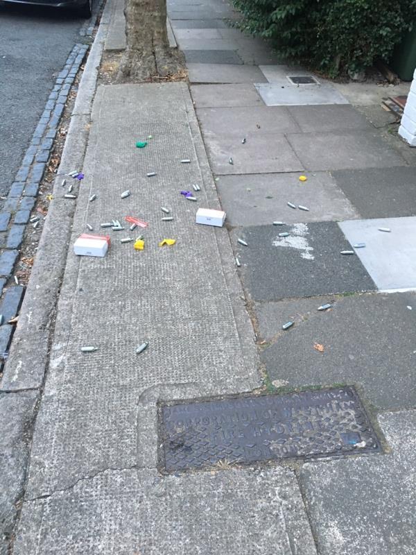 Drug related litter-33 Bolton Road, London, E15 4JY