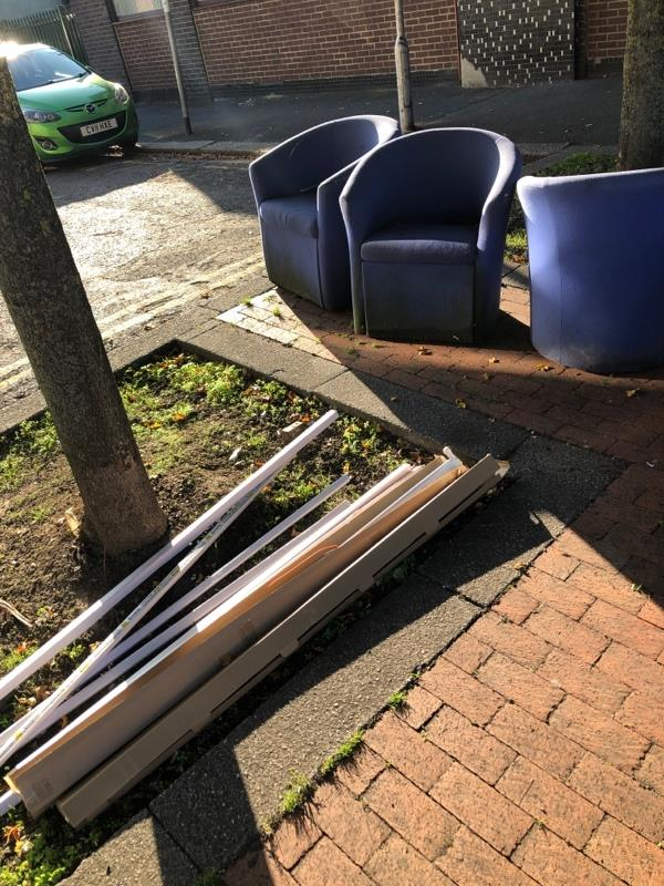 Dumped furniture and packaging-495 Oxford Road, Reading, RG30 1HF