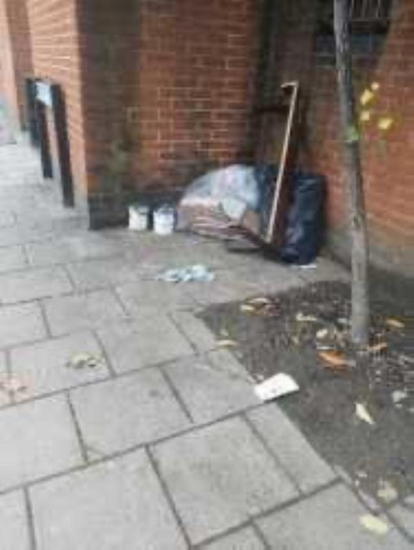 Please clear flytip. Reported by London & Quadrant-12 Alpine Road, South Bermondsey, SE16 2RP