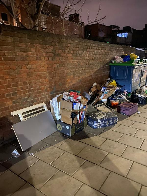 Fly tipping at the corner of Raymond Road and Harold Road -386-388 Harold Road, Plaistow, E13 9AP