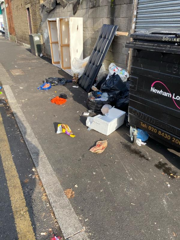 AGAIN rubbish dumped here and the road now smells -5 Bartle Avenue, London, E6 3AJ