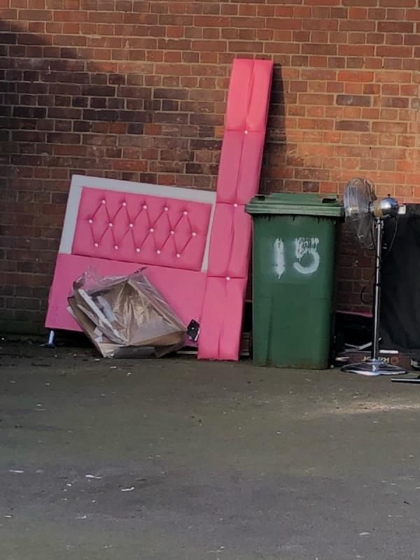 Pink bed parts . The same bed you couldn't find last week is still there . -30 Marcus Court, London, E15 3JU