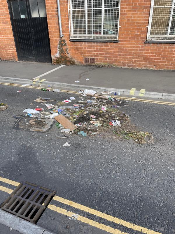 Refuse in the middle of the road. -2 Mansfield Street, Leicester, LE1 3AL