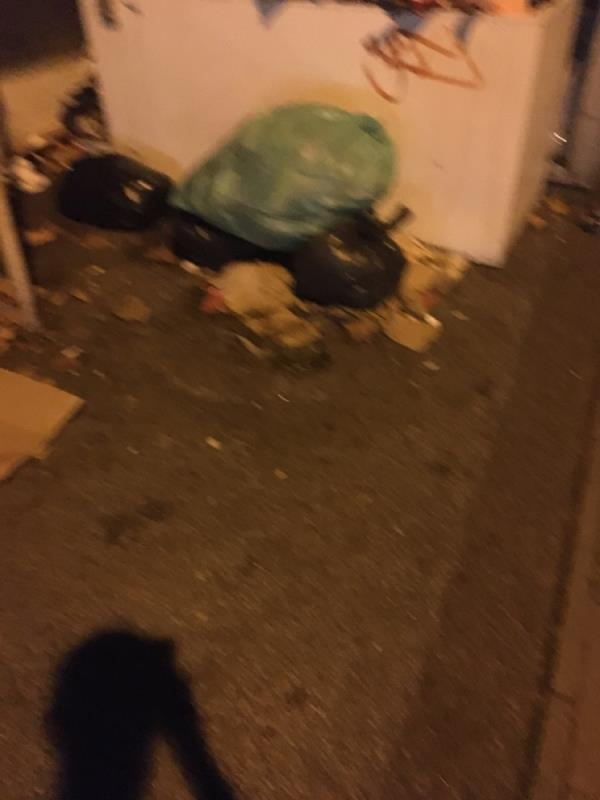 Major rubbish dumped and needs removing l. Please can this be escalated ASAP as it causes rats to come  image 2-40a West Ham Lane, London, E15 4PT