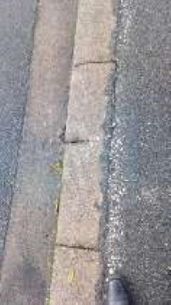 kerb damage 1 Websters Lane -1 Websters Lane, Great Sutton, CH66 2LH