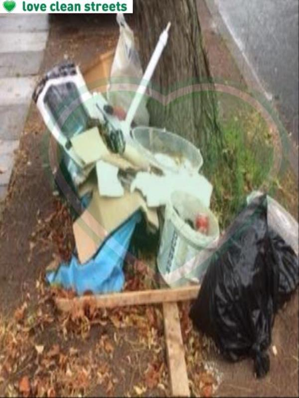 Please clear flytip. Reported by Councillor Millbank-77 Saint Norbert Road, Brockley, SE4 2EY