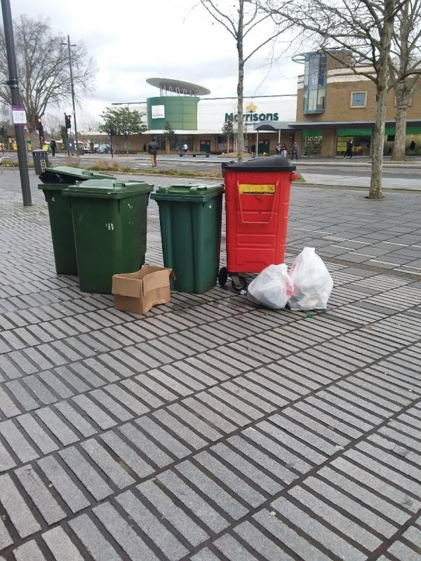 Bin Bags and Litter left at this location-128-130 The Grove, London, E15 1NS