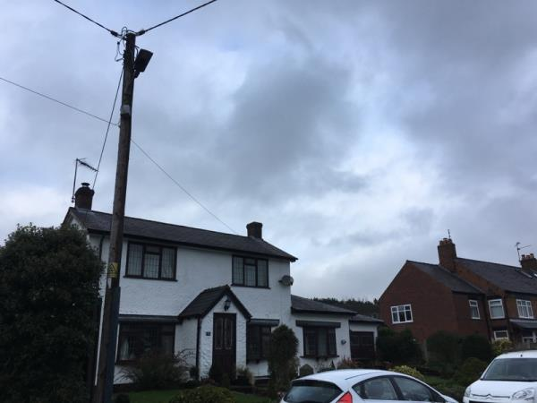 The street light outside 73 Old Coach Road, Kelsall is flashing all night long making it impossible to get a good night's sleep-86 Old Coach Road, Kelsall, CW6 0RA