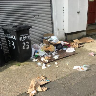 Continued dumping on corner of Oldhill Street and Lynmouth Road disgracefully persists -56 Oldhill St, Cazenove, London N16 6NA, UK