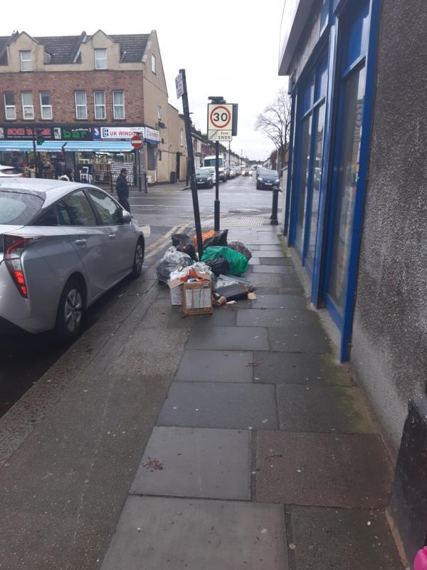 fly tipping -70 Upton Lane, London, E7 9LN