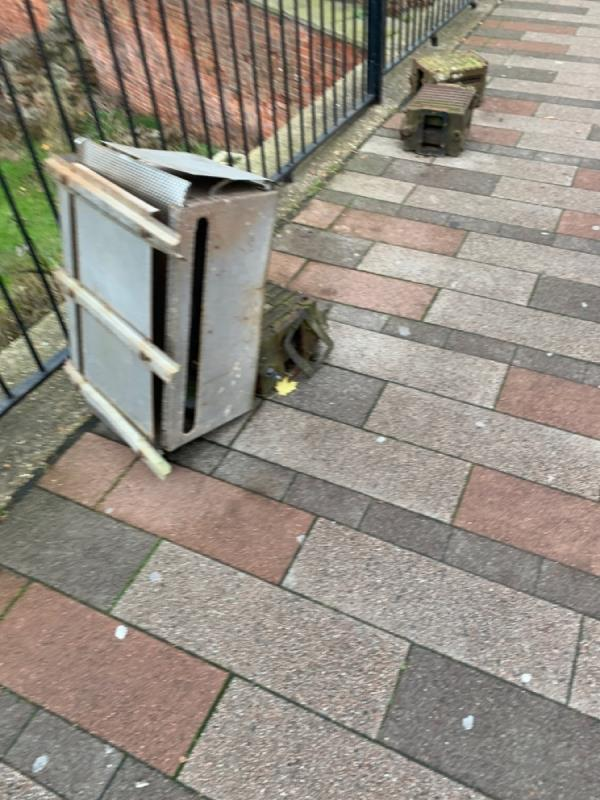 Dumped boiler I think. -Imperial House 133-149 Saint Nicholas Circle, Leicester, LE1 4LB