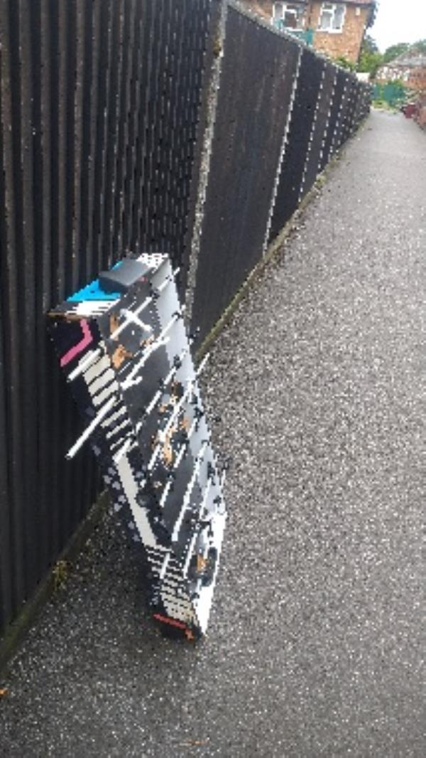 Flytipped football game no evidence taken -12 Thornbridge Road, Reading, RG2 8RL