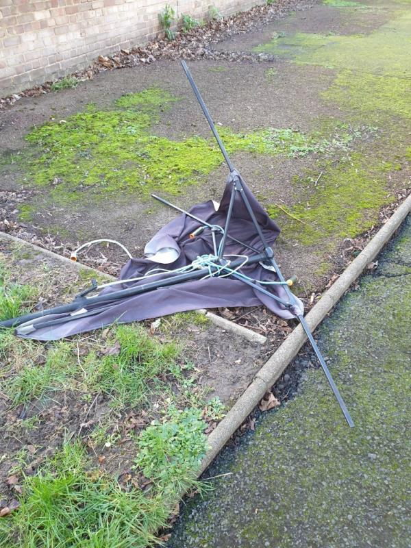 large garden umbrella -46 Devenay Rd, London E15 4AY, UK