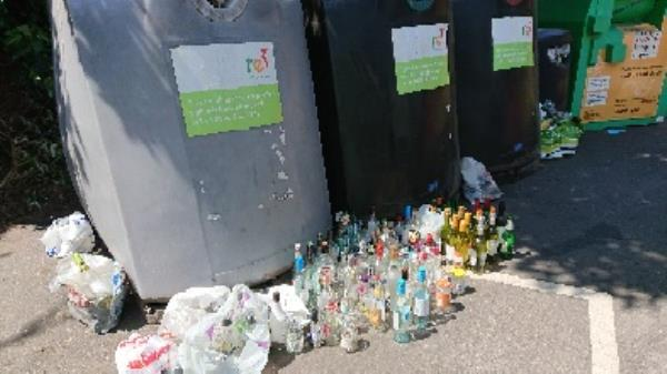 Bottle banks full needs to be emptied -60 Bath Road, Reading, RG30 2AY