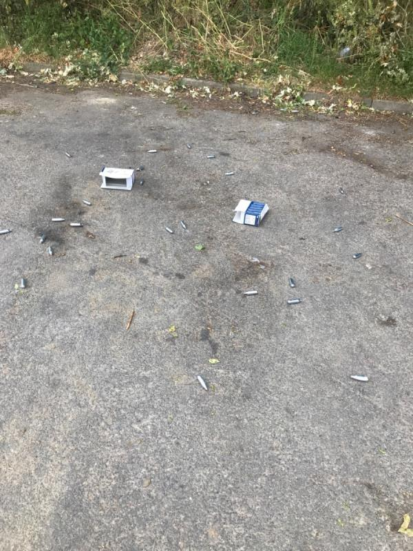 Gas canisters at the end of Bewcastle grove near playground  image 1-80 Bewcastle Grove, Leicester, LE4 2JW