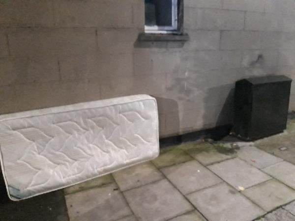 Mattress dumped on Field Rd at side of 84 Kitchener Rd-88 Kitchener Road, London, N17 6DY