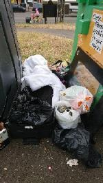 Large amount of household waste fly tipping removed  image 1-110 Mount Street, Reading, RG2 0EQ