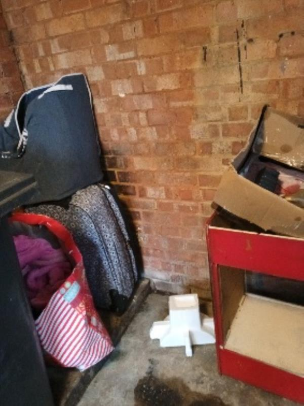 fly tipping bin store 44 Granville road-44 Granville Road, Reading, RG30 3PY