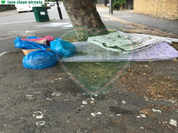 Please remove flytip -5 Woolstone Road, London, SE23 2TR