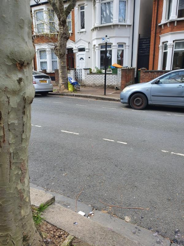 Dumped at base of tree outside number 26 at base of tree-26 Marlow Road, East Ham, E6 3QQ