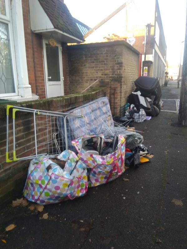 household items, sofa, mattresses, general rubbish bags. -10 St Mary's Road, London, E13 9AE