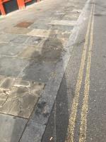 Broken uneven pavement is located outside GDC paint 318 Ruislip Road East ub6- this is due to persistent vans loading /unloading / parking at the location. Please can cycle stands or bollards be installed. Can york stone pavement please be used to replace broken pavement  image 1-314a Ruislip Road East, Greenford, UB6 9BH
